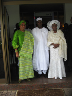 President Sirleaf  with President and Mrs. Yar'Adua at Rock Villa.