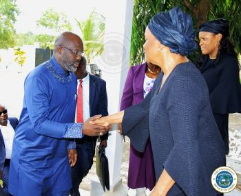 President Weah meets family of the late Charles W. Brumskine