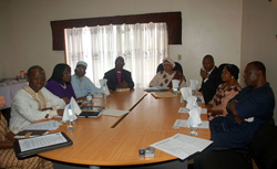 President Sirleaf and TRC Commissioners