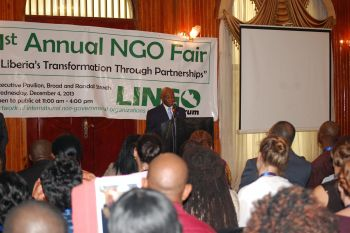 The Pictures attached show Vice President Boakai at the 1st Annual NGO Fair at the Executive Pavilion in Downtown Monrovia.
