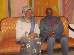 Presidents Ellen Johnson Sirleaf and President Abdoulaye Wade of Senegal.
