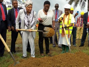 President Sirleaf Dedicates Cassava Processing Hubs, Health Staff Housing Unit, Performs Groundbreaking for New Dormitories at A. M. Dogliotti College of Medicine; Receives WFP Executive Board Members