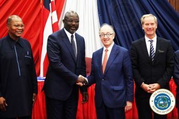 President Weah Makes remarks at the meeting with visiting UN Delegation