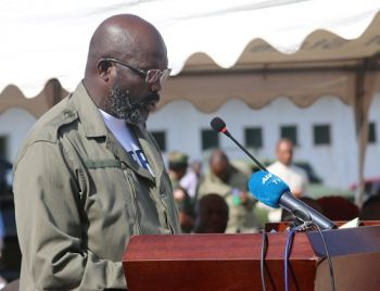 President Weah Making Special Statement as he breaks grounds for 14-Military Hospital