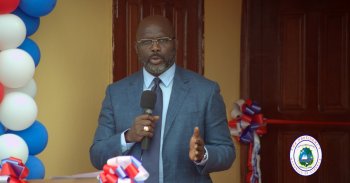 President Weah Speaking at the Launch of the Prototype of the Pro Poor Housing Units.