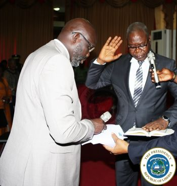 President Weah commissioned Judge Kaba