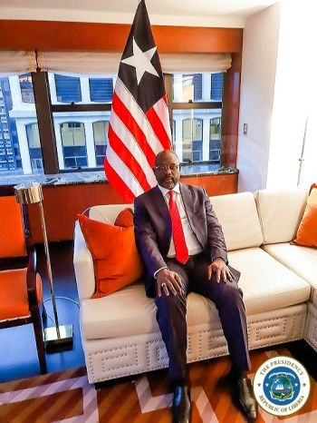 President Weah in New York ahead of his participation in the UNGA