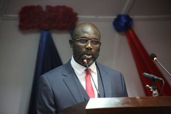 President Weah off to Attend Franco-African Summit.