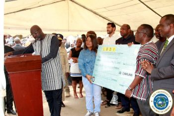 President Weah officially launching the 3 million US Dollars Loan Scheme for Liberian Traders
