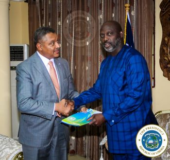 President Weah receives letter of Accreditation from UN Deputy Secretary General
