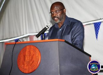 President Weah speaking at US 242nd Independence Ceremony