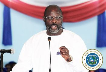 President Weah speaking at the Independence Day Thanksgiving and Intercessory Service