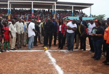 President Weah takes official kickoff of the National County Meet