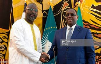 President Weah and President Macky Sall