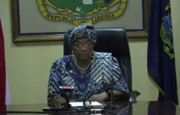 President Sirleaf addresses the nation, on july 8, regarding dismissals, investigation of government officials.