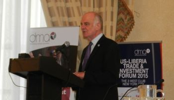 UN Secretary -General's Special Envoy on Ebola, Dr. David Nabarro speaks at the US-Liberian Trade and Investment Forum.