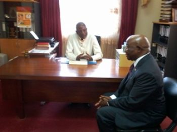 Vice President Boakai with Reverend Lewis Zeigler Archbishop of Monrovia