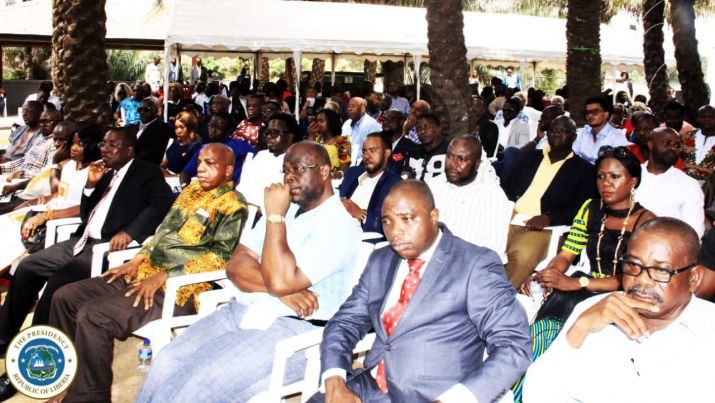 Cross section of Liberians from the Diaspora at the meeting with President Weah at  Jamaica Resort