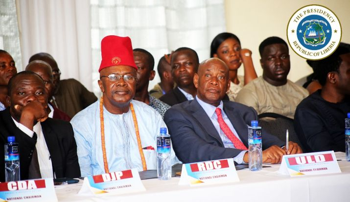 Cross section of Political Parties leaders at the Government-Political Parties Consultative Forum