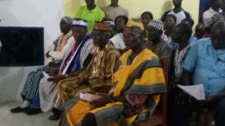 Cross section of Chiefs and Elders  of River Gee.