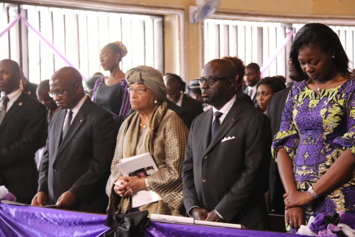 President Sirleaf Pays Tribute to Fallen Chief of Staff � Dr. Edward B. McClain, Jr.; Special Ivorian Delegation Confers Highest National Post-Mortem Honor
