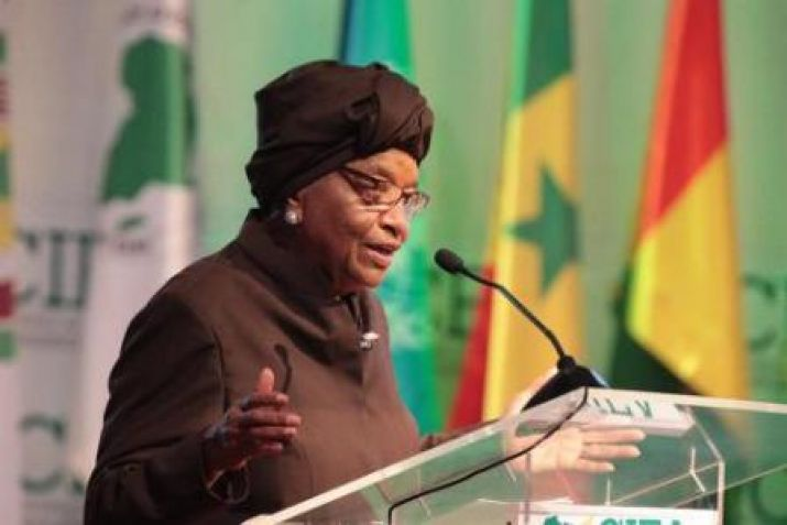 President Sirleaf addressing International Conference on the Emergence of Africa
