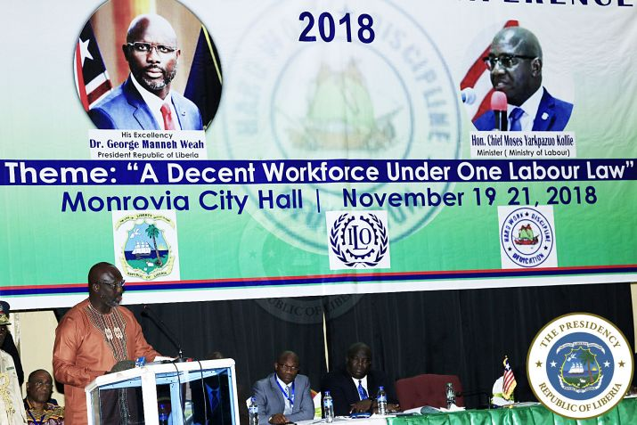 Pres. Weah addresses 1st national labor conference