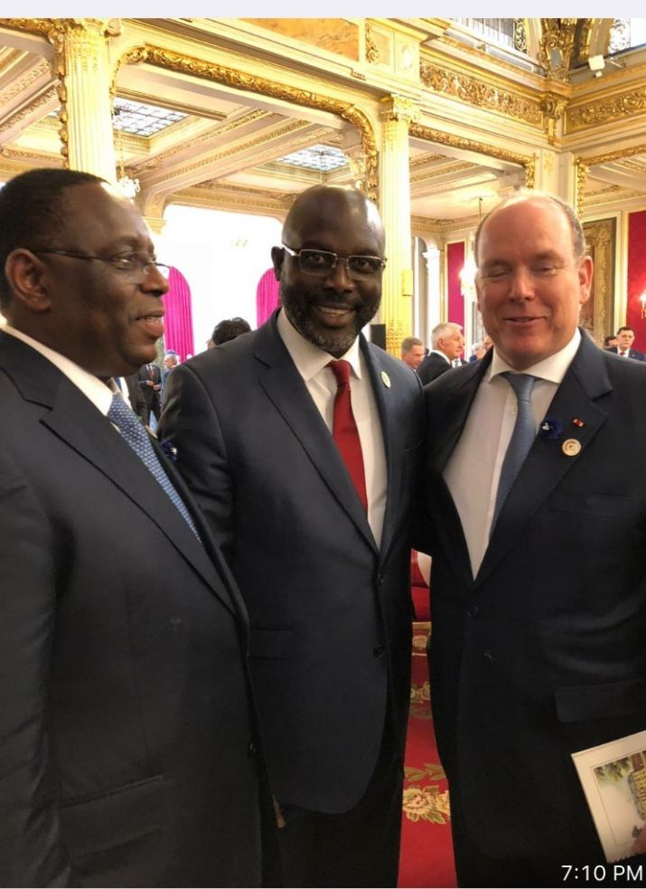 Pres. Weah along with Senegalese Counterpart