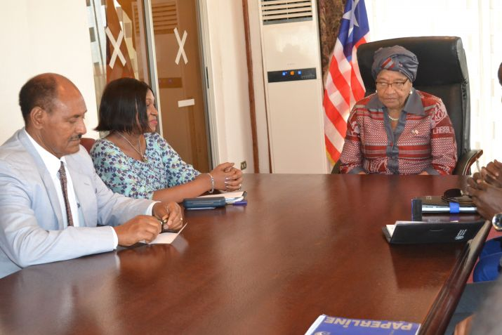 President Sirleaf Receives Delegation from UNECA