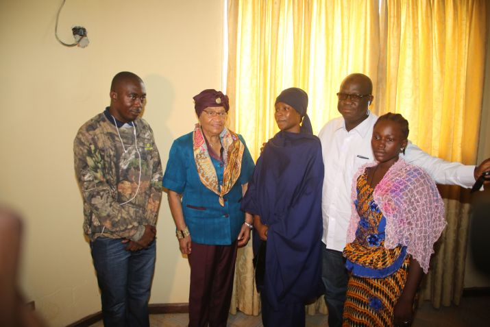 President Sirleaf Visits EBK Barracks; Assures Army of Government's Continued Support