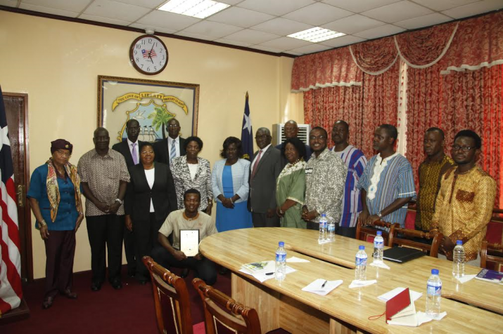 President Sirleaf Meets High-level Delegation from Regional Universities Forum for Capacity Building in Agriculture (RUFORUM)