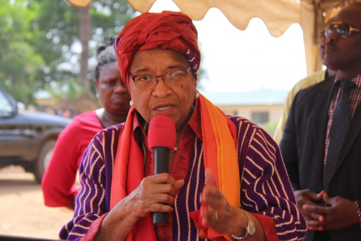President Sirleaf Dedicates 70 Affordable Housing Units in Brewerville.