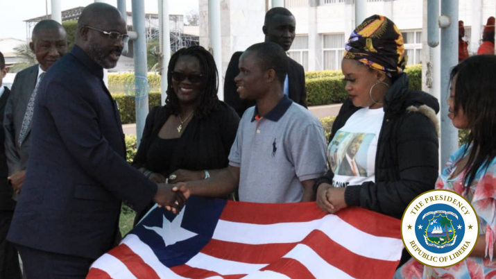 President Weah bidding farewell to Liberians living in Senegal