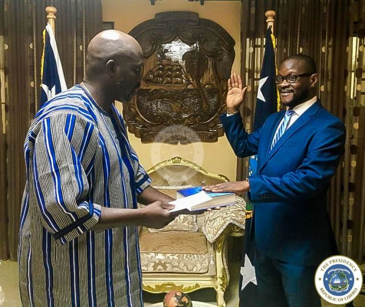 President Weah commissions as Liberia's Ambassador to the United States