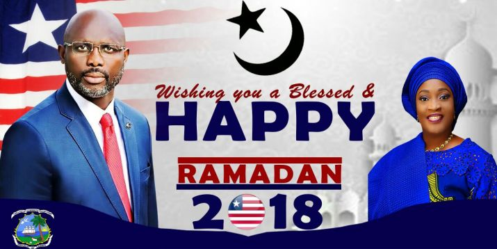 President Weah Extends Heartfelt Greetings to Liberian Muslims on the Observance of Ramadan