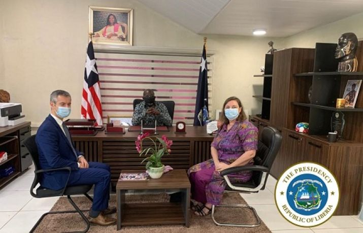 The Ambassadors of Britain and the European Union (EU) accredited to Liberia on Monday paid a courtesy call on the President of Liberia.