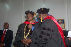 The University of Liberia also conferred an honorary Degree of Laws on President Obasanjo