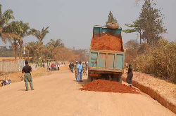 The Voinjama-Zorzor road project, which is currently being undertaken by the Pakistani Battalion of the United Nations Mission in Liberia (UNMIL).