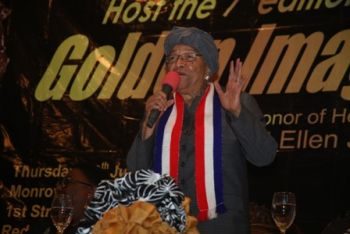 President Sirleaf Commends Amb. Julie Endee for Inspiring Young People